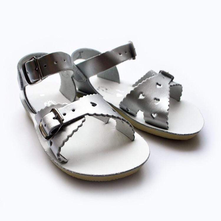 Sweetheart Salt Water Sandals - Silver Sandals Salt Water Sandals