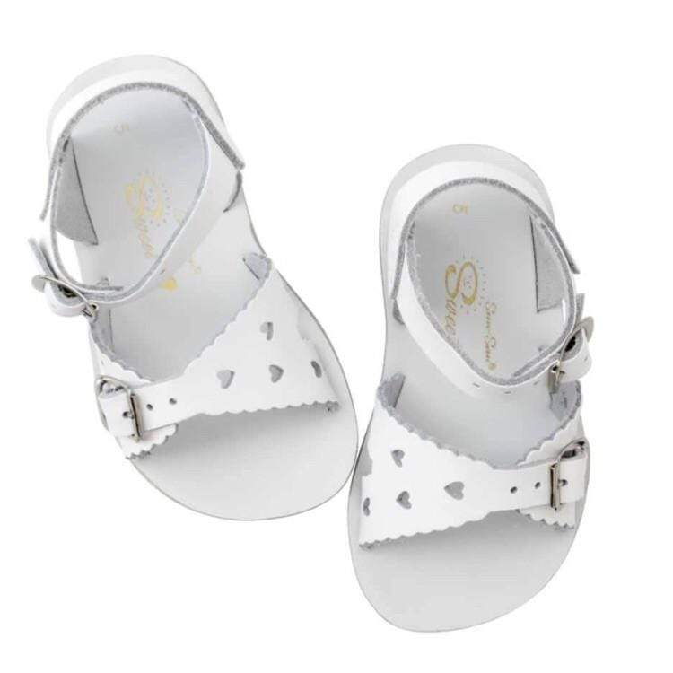 Sweetheart Salt Water Sandals - White Sandals Salt Water Sandals