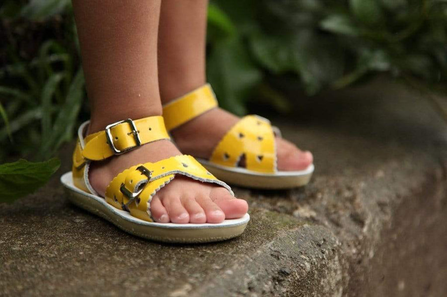 Sweetheart Salt Water Sandals - Yellow Sandals Salt Water Sandals