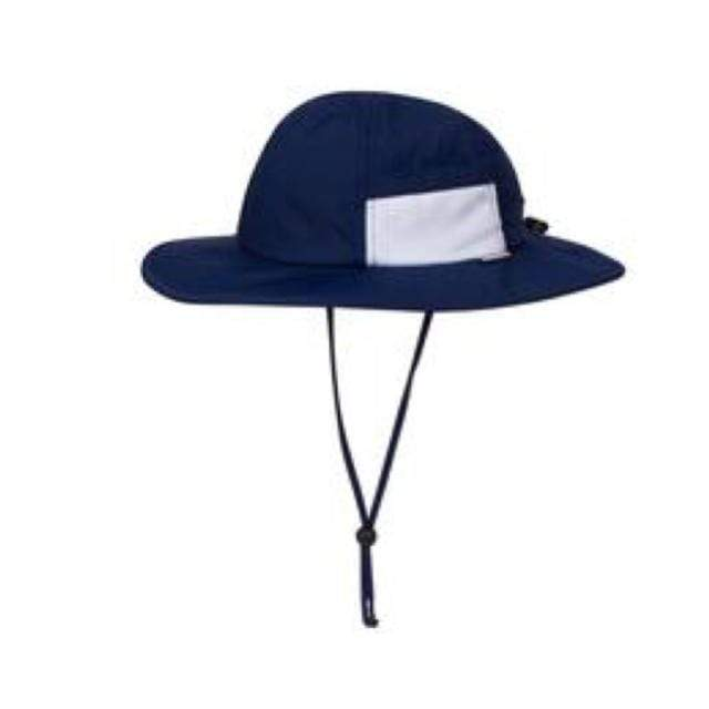 Swim Zip - Navy Wide Brim Baby Hat Hats Swim Zip