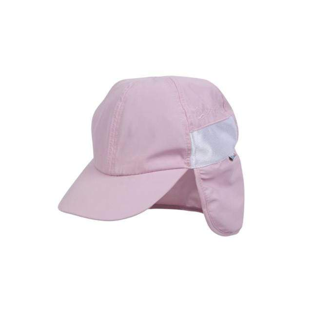 Swim Zip - Pink Baby and Kids Hat with Neck Flap (0-8 Years) Hats Swim Zip
