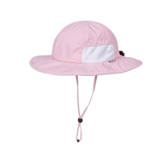 Swim Zip - Pink Wide Brim Baby Hat Hats Swim Zip