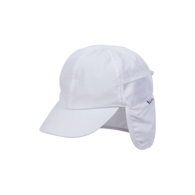 Swim Zip - White Baby and Kids Hat with Neck Flap (0-8 Years) Hats Swim Zip
