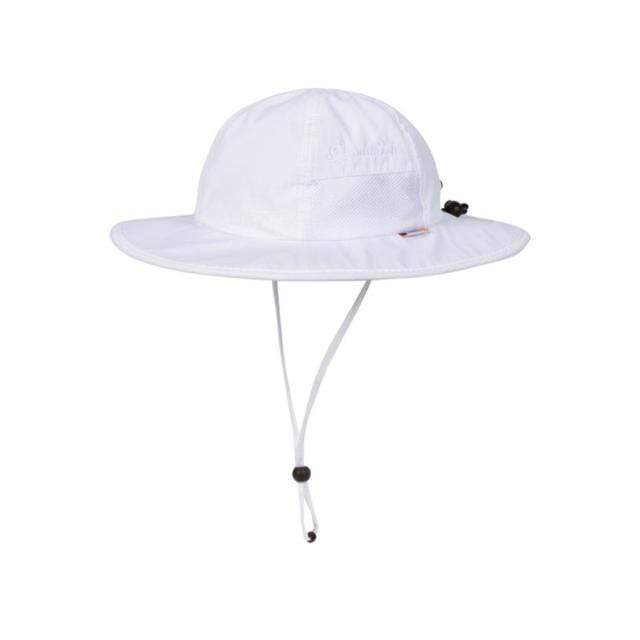 Swim Zip - White Wide Brim Baby Hat Hats Swim Zip