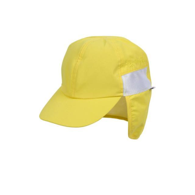 Swim Zip - Yellow Baby and Kids Hat with Neck Flap (0-8 Years) Hats Swim Zip