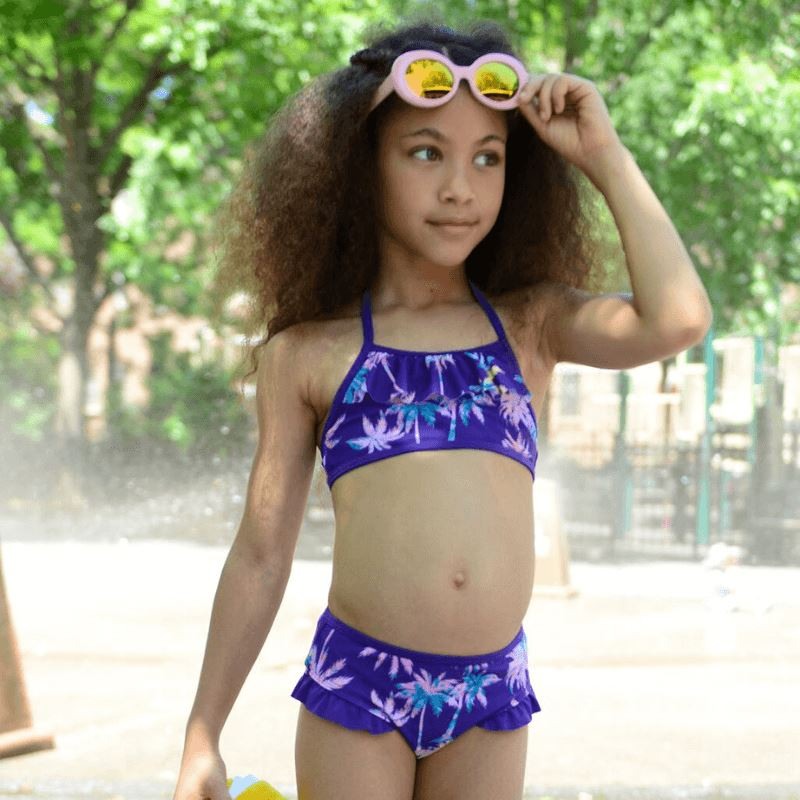 T11MBS Appaman Girls Paradise Palms Melissani Bikini Set Swimwear Appaman