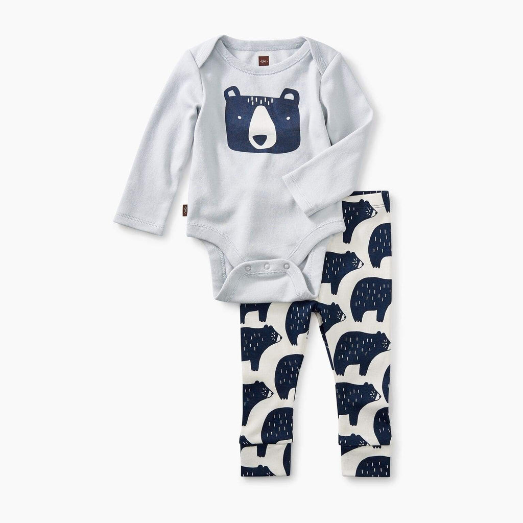 Tea Collection 2-Piece Bodysuit Baby Bear Outfit Outfit Tea Collection