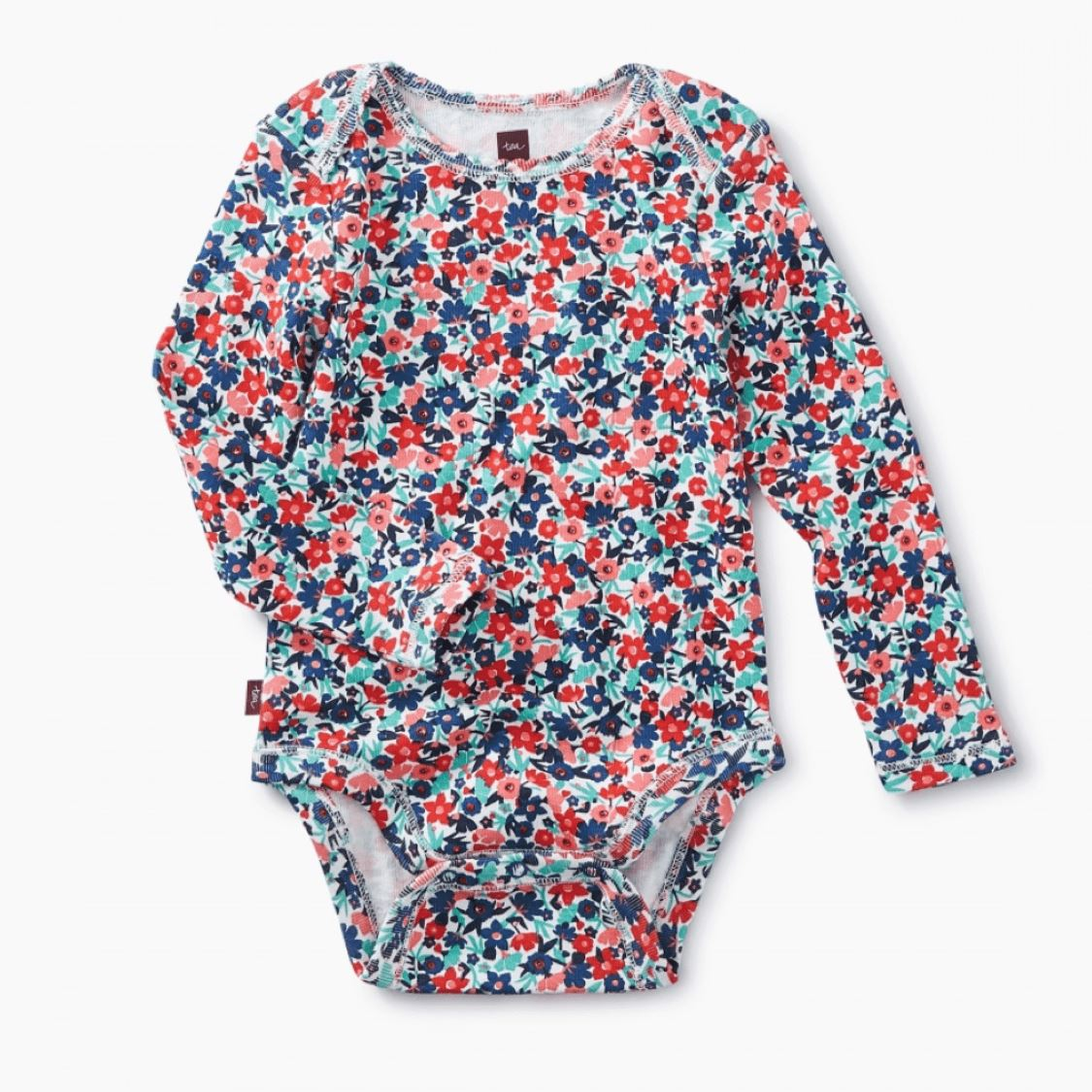 Tea Collection Baby Girl Bodysuit - Cape Floral Onesie Tea Collection