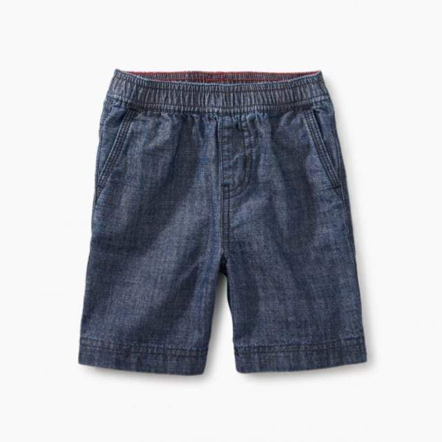 Tea Collection Chambray Baby Shorts Shorts Tea Collection