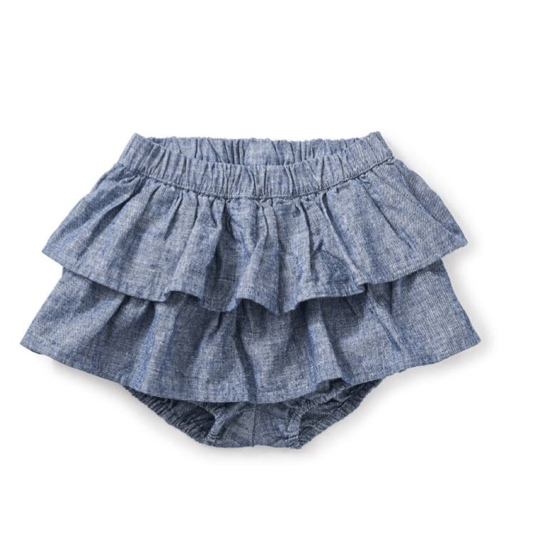 Tea Collection Citizen Chambray Ruffled Bloomers Diaper Covers Tea Collection