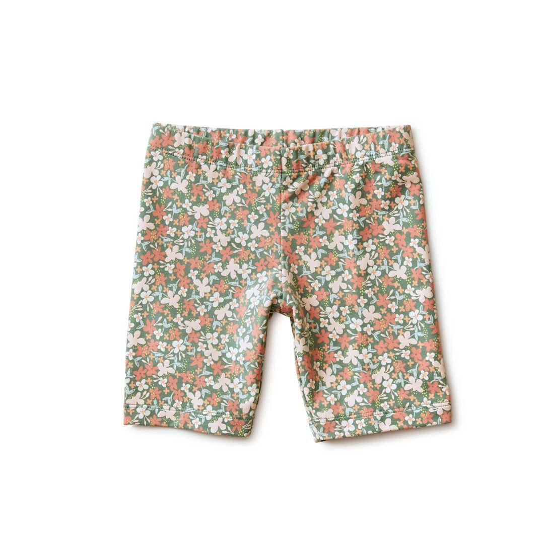 Tea Collection Cyprus Floral Sagebrush Bike Shorts Shorts Tea Collection