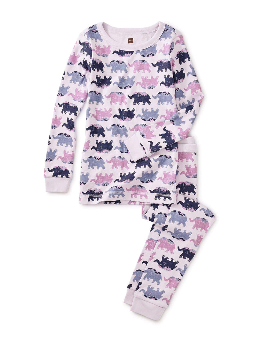 Tea Collection Elephant Elegance Printed Pajamas Pajamas Tea Collection