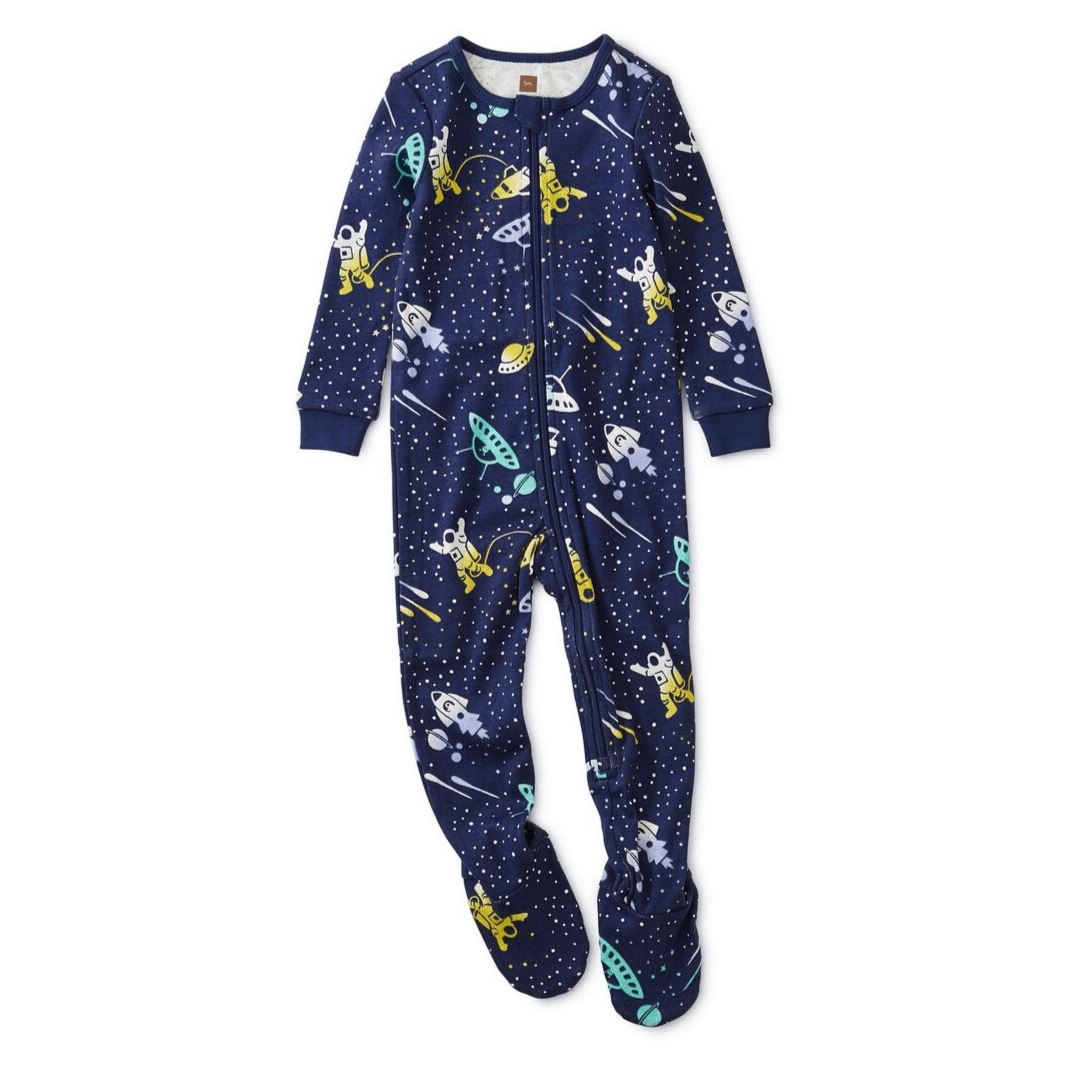 Tea Collection Galactic Patterned Footed Baby Pajamas Pajamas Tea Collection