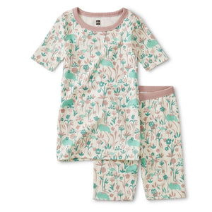 Tea Collection Printed Oasis Animals Shortie Pajamas Pajamas Tea Collection