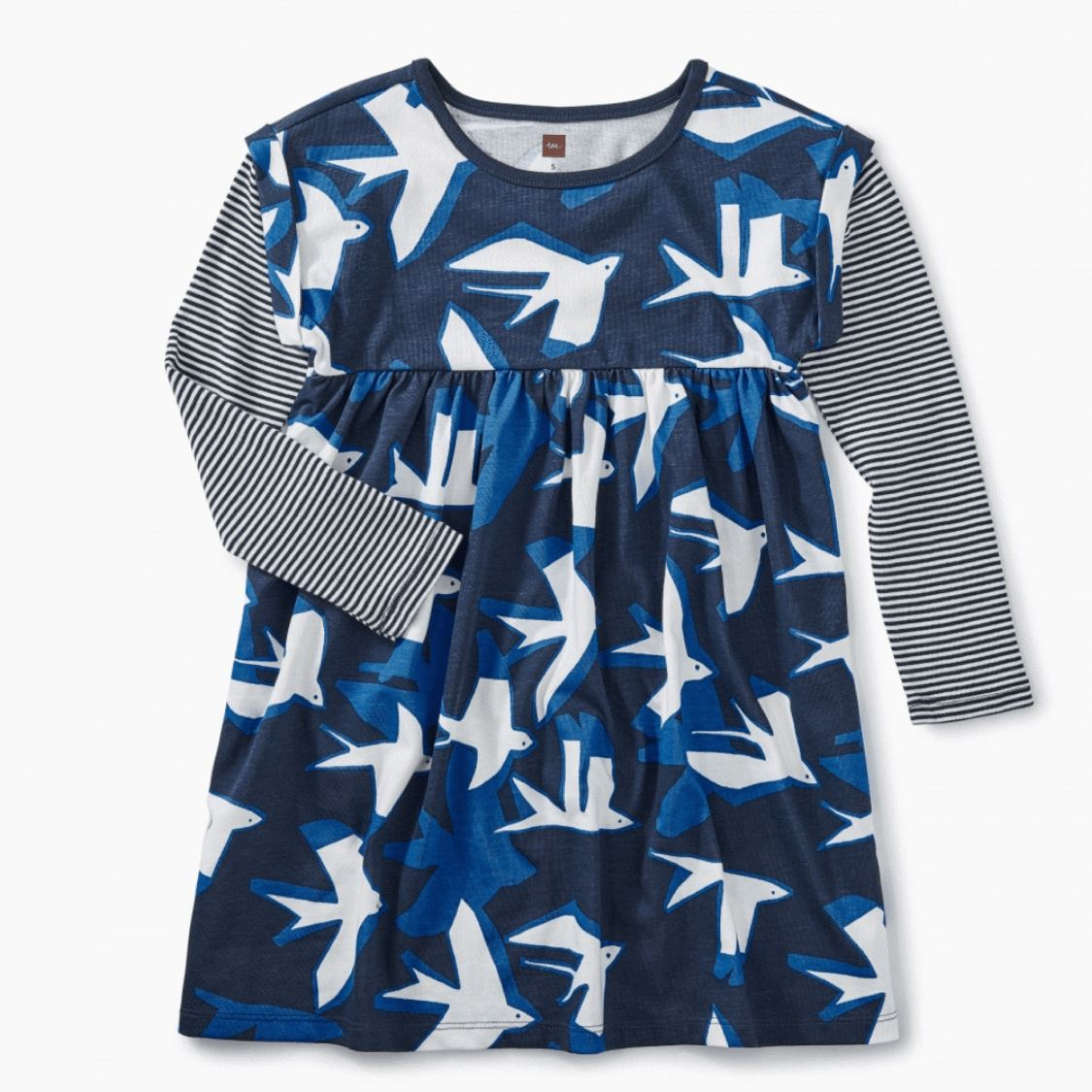 Tea Collection - Printed Sea Birds Layered Sleeve Baby and Girls Dress Dress Tea Collection 12-18 Months
