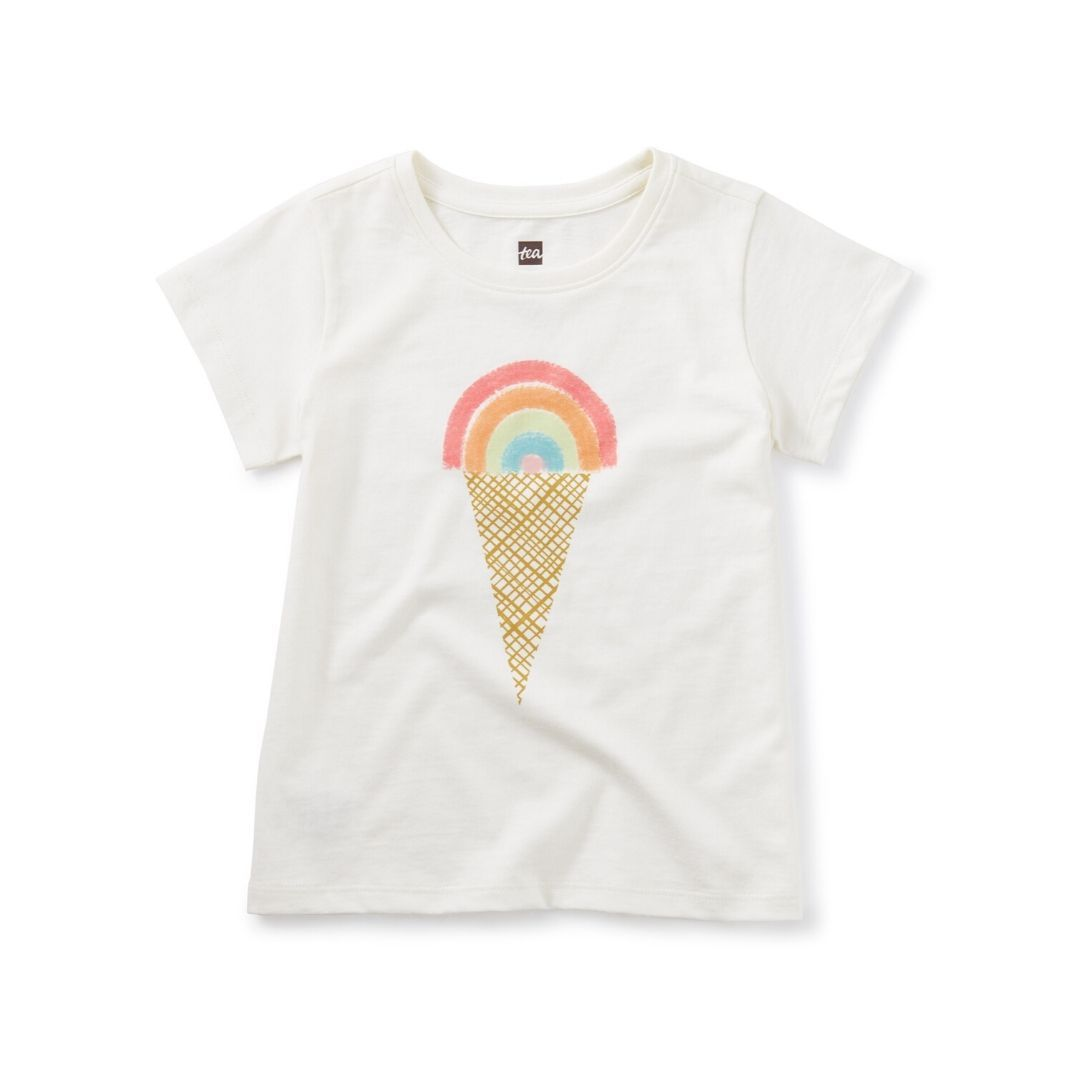 Tea Collection Rainbow Ice Cream Scoop Tee Short Sleeve Shirt Tea Collection