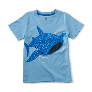 Tea Collection Tattle Whale Shark Graphic Tee Short Sleeve Shirts Tea Collection