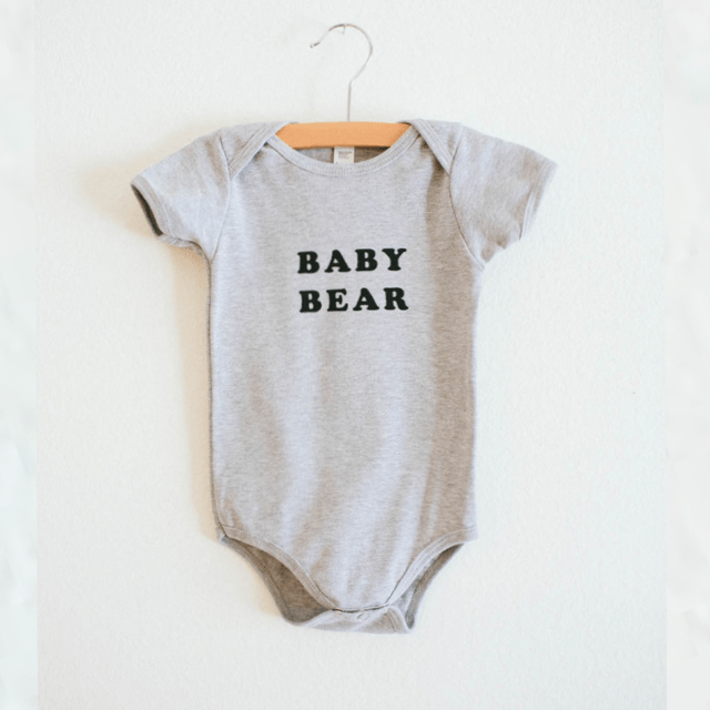 The Bee & The Fox - Baby Bear onesie Onesie The Bee & The Fox