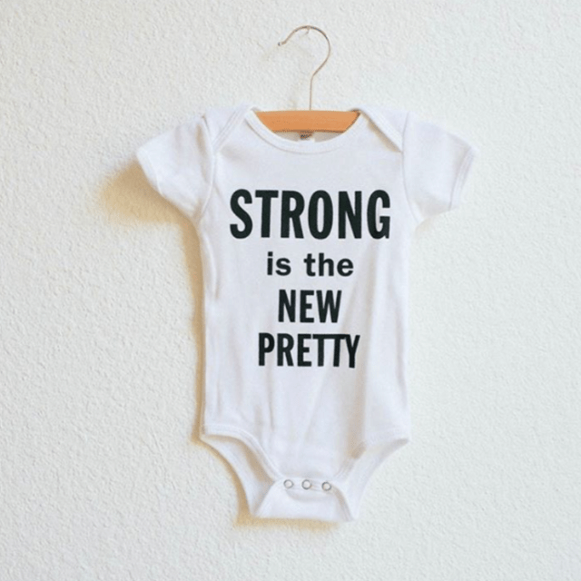 The Bee & The Fox - Strong is the new pretty onesie Onesie The Bee & The Fox