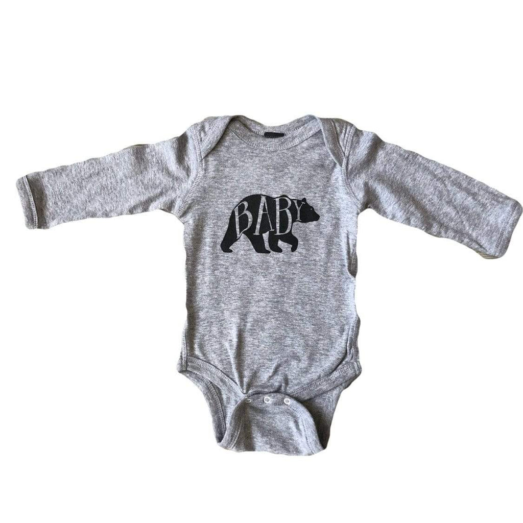 The Oyster's Pearl -Baby bear Long Sleeve onesie Onesie The Oyster's Pearl