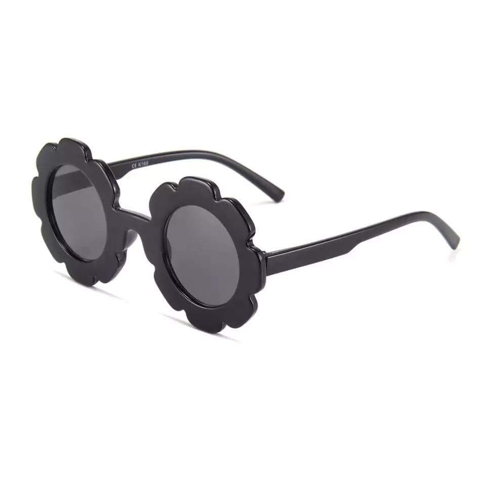Tiny Black Floral Frame Sunglasses Sunglasses TIny Trendsetter