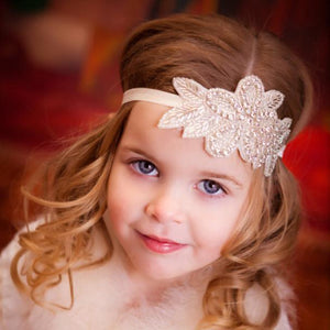 Tiny Crystal Floral Headband (0-2 Years) Headband Tiny Trendsetter 0-2 Years