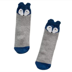 Tiny Fox Socks Grey & Navy Socks Tiny Trendsetter 1-2 Years