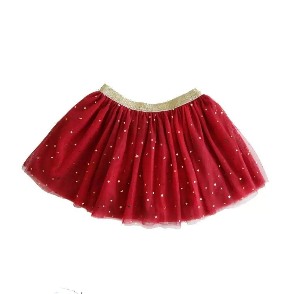 Tiny Red with Gold Stars Tutu Tutu Tiny Trendsetter 12-18 Months