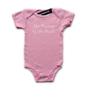 "Tiny ""The Fairest Of The Mall"" Onesie Pink (18-24 Months) Onesie Tiny Trendsetter 3-6 Months"