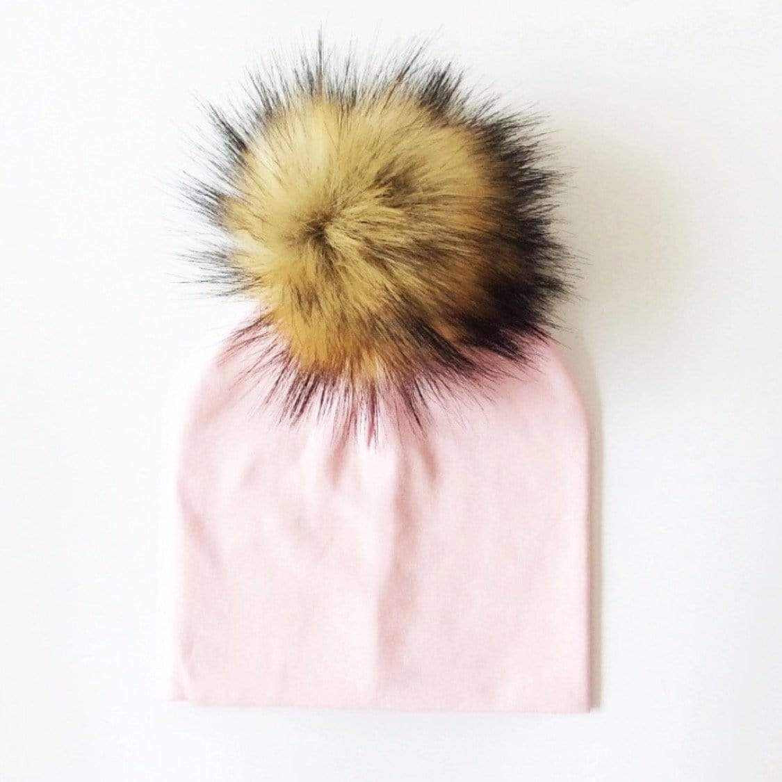Tiny Trendsetter - Pastel Pink Pom Pom Beanie Hat (Baby - Adult) Hats Tiny Trendsetter 1-4 years