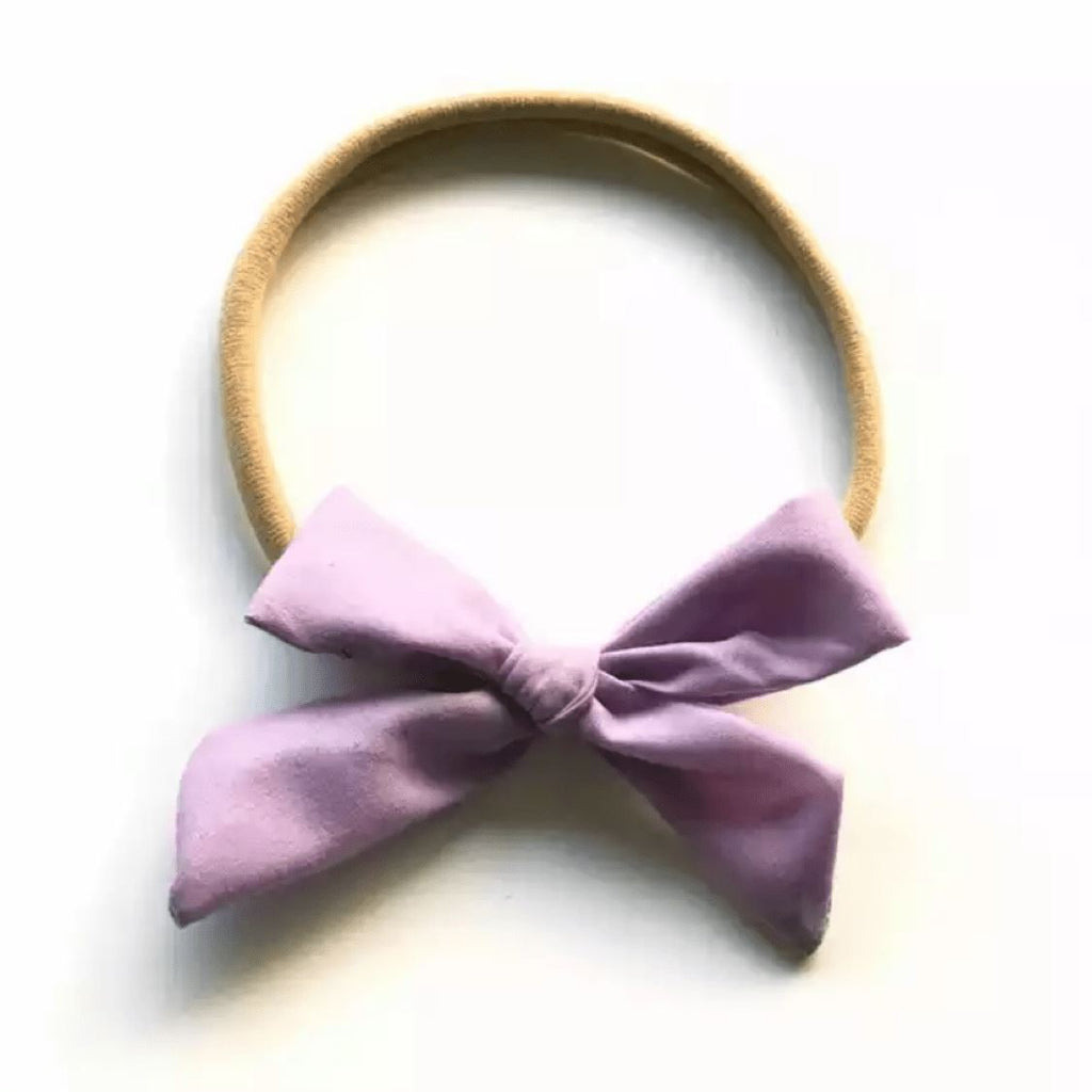 Tiny Violet Bow Headband Headband Tiny Trendsetter One Size