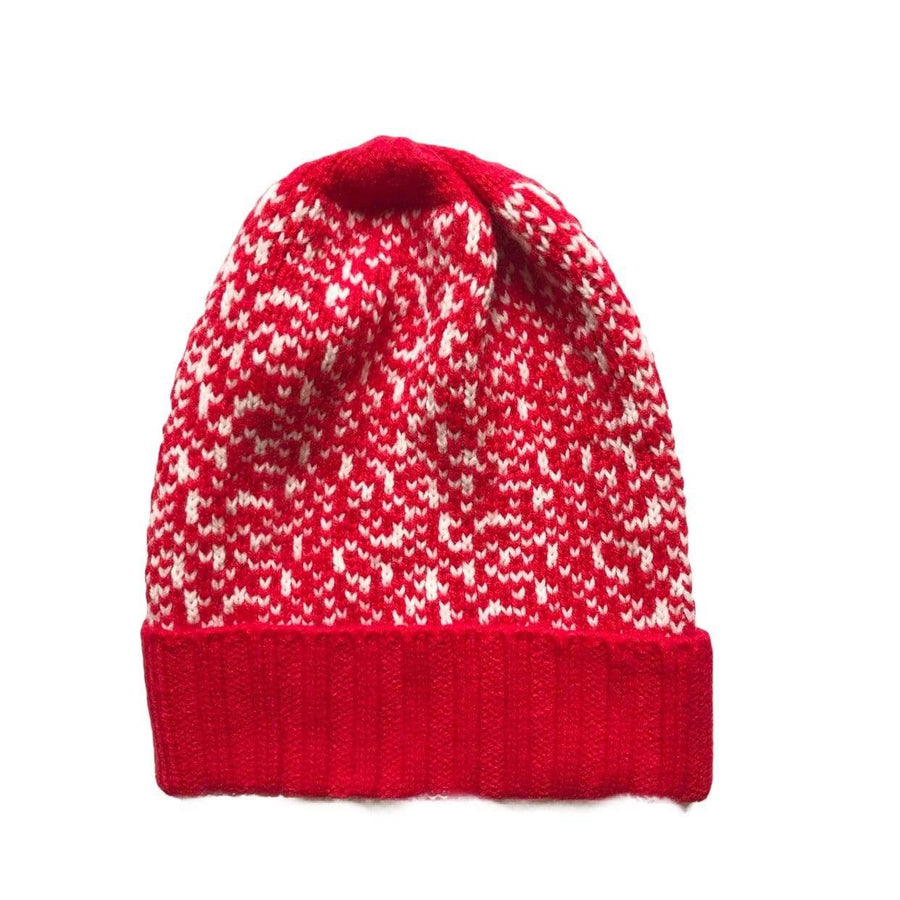 Tiny Youth Chevron Knit Beanie Hat - Red Hats Tiny Trendsetter