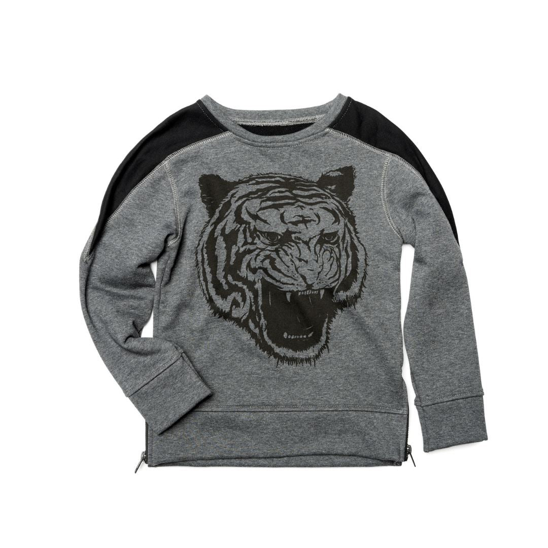 U1CON - Appaman - Boy's Contra Sweatshirt- Heather Grey Sweatshirt Appaman 2 Years