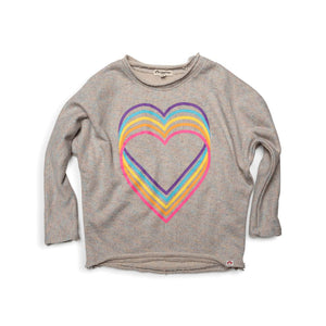 U1SS - Appaman - Girl's Slouchy Sweatshirt- Rainbow Sparkle Sweatshirt Appaman