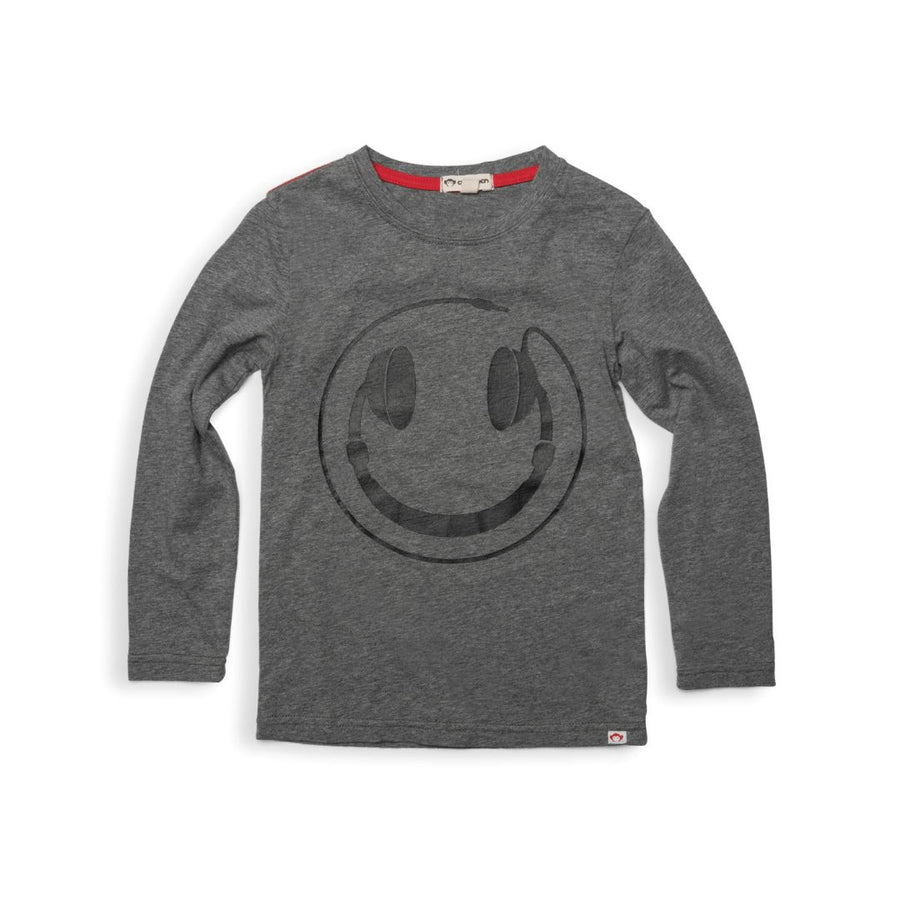 U1T1 - Appaman - Boy's Happy Tunes Long Sleeve Tee - Grey Heather Long Sleeve Shirts Appaman 12-18 Months
