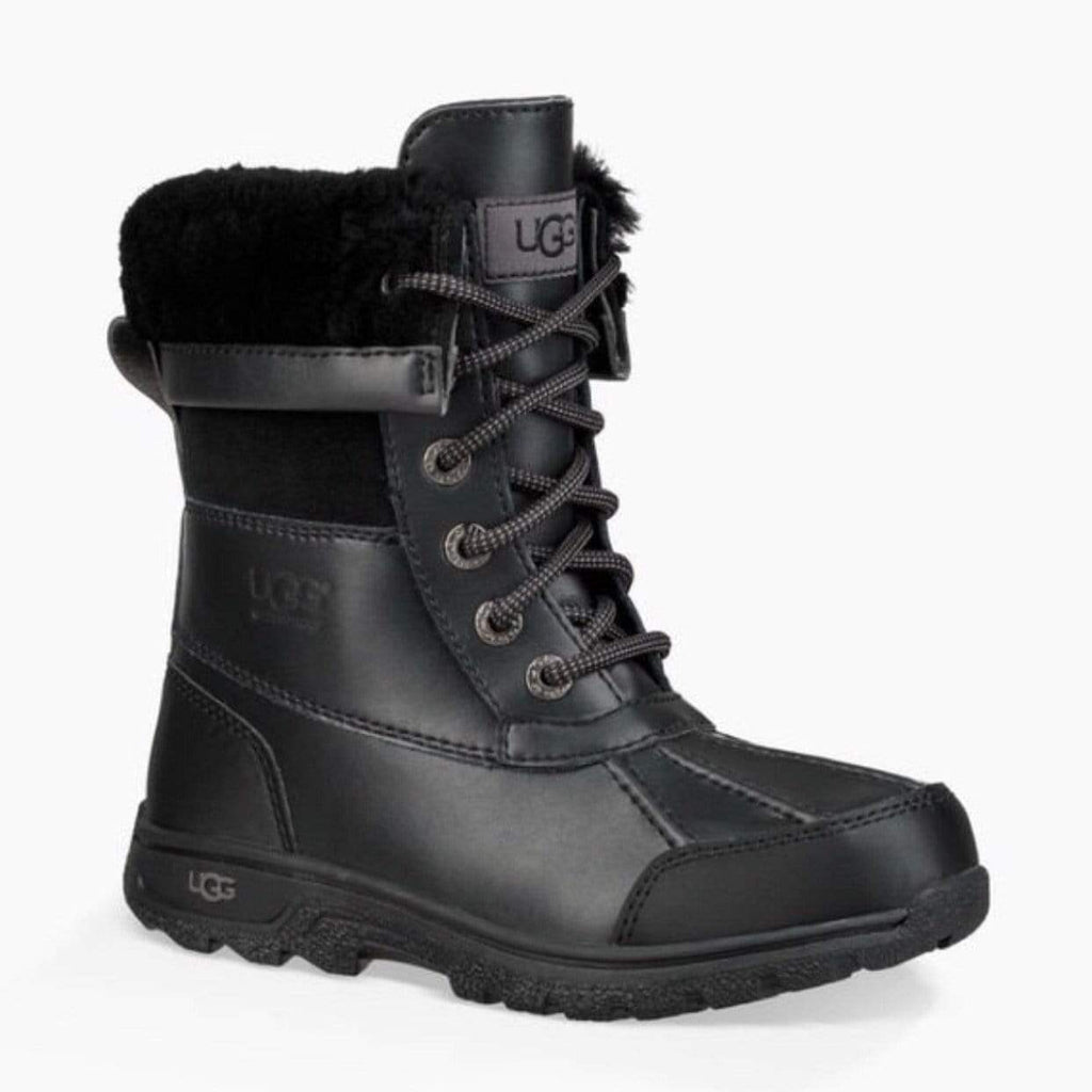 UGG 1098890K -BUTTE II CWR Boot - Black (Kids 10 - Youth 5) Winter Boots UGG
