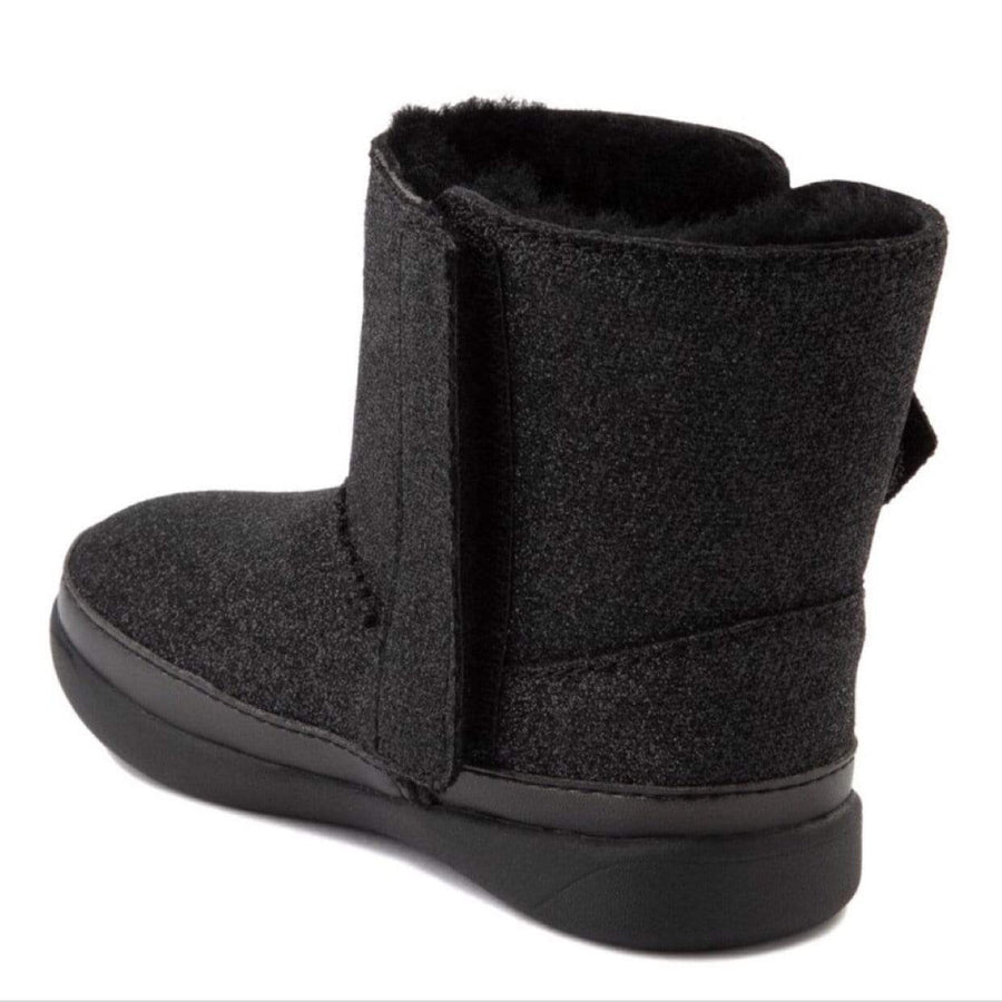 UGG 1111853T - Keelan Black Glitter Girls Boot (Toddler 7- Kids 12) Winter Boots UGG