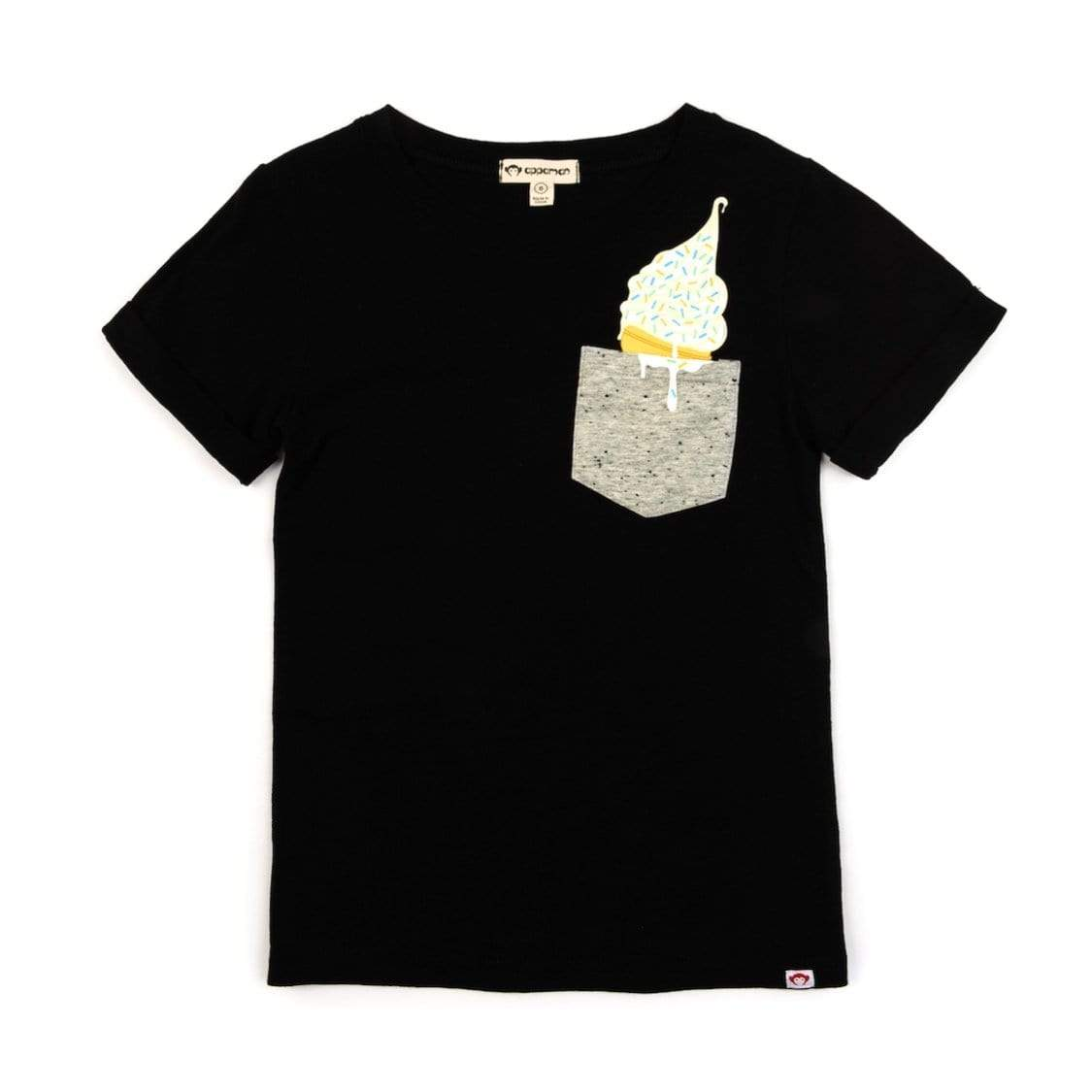 V1DAY-BL Appaman Day Trip Graphic Tee - Black Short Sleeve Shirts Appaman