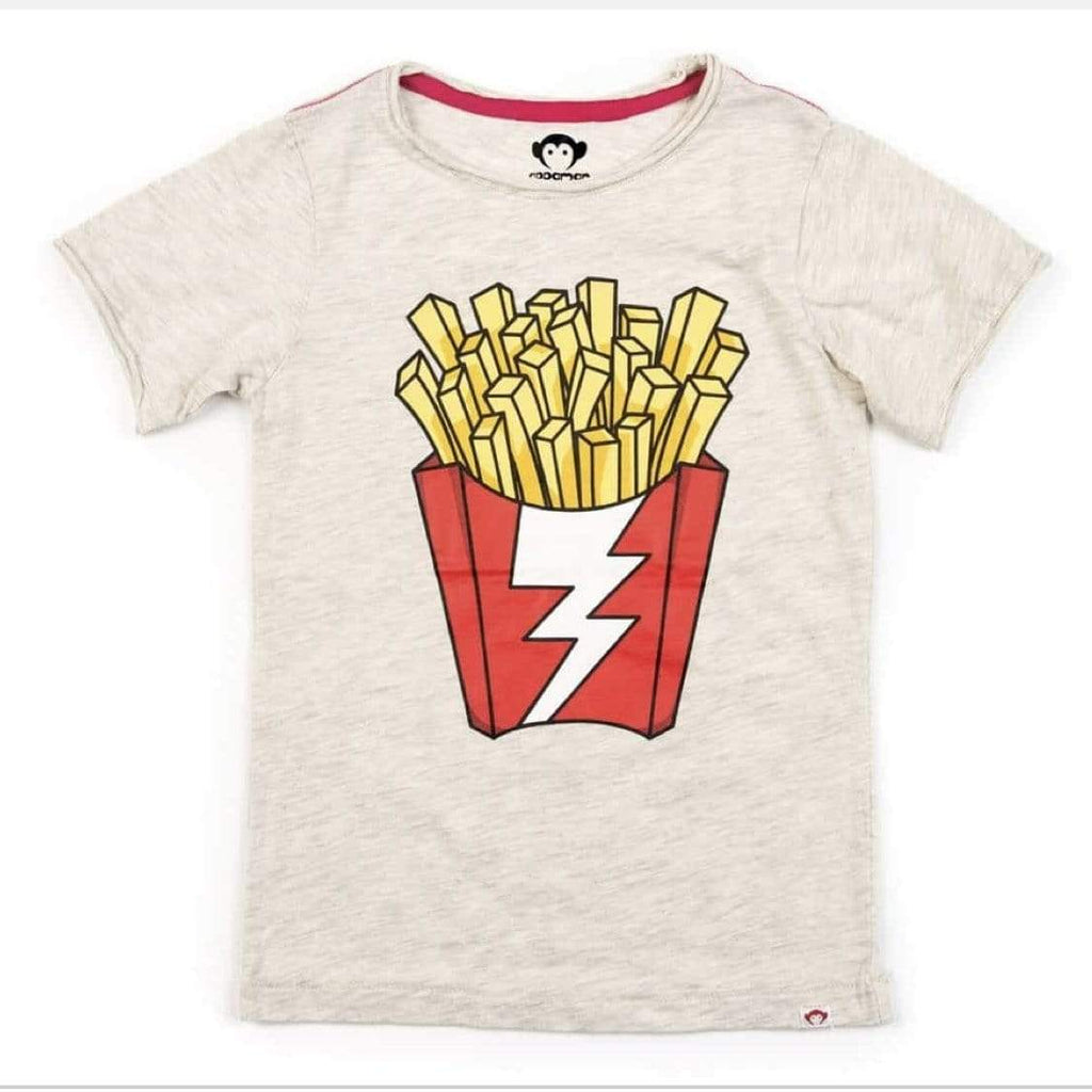 V1T3-CLH Appaman - Cloud Heather Shazam Fries Graphic Tee Short Sleeve Shirts Appaman
