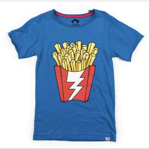 V1T3-MRB Appaman - Mediterranean Blue Shazam Fries Graphic Tee Short Sleeve Shirts Appaman