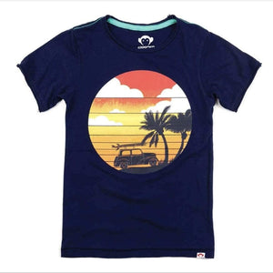 V1T4-PBL Appaman - Patriot Blue Surf Life Graphic Tee Short Sleeve Shirts Appaman