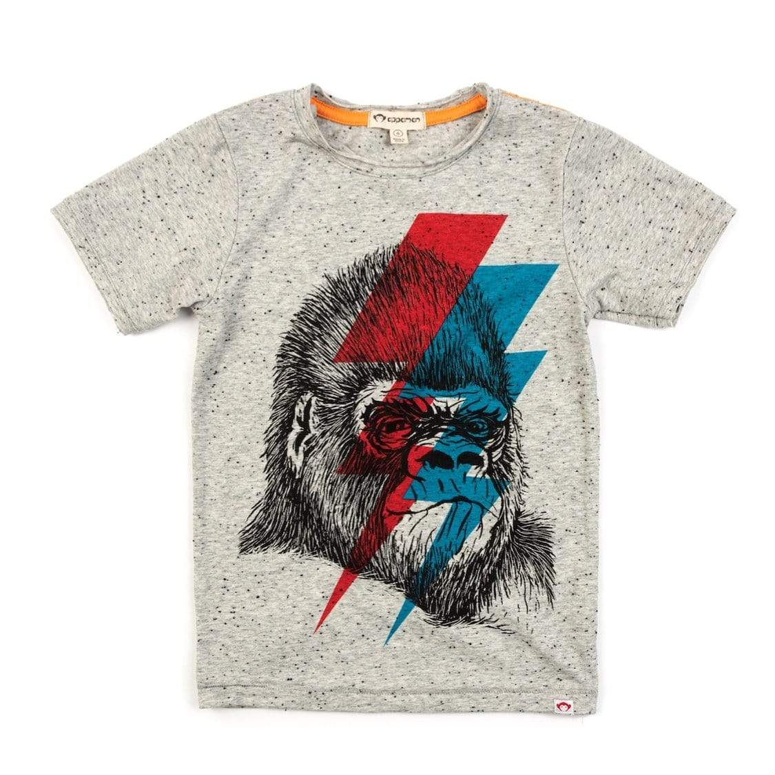 V1T7 Appaman Go-Go-Rilla Graphic Tee - Heather Grey Short Sleeve Shirts Appaman