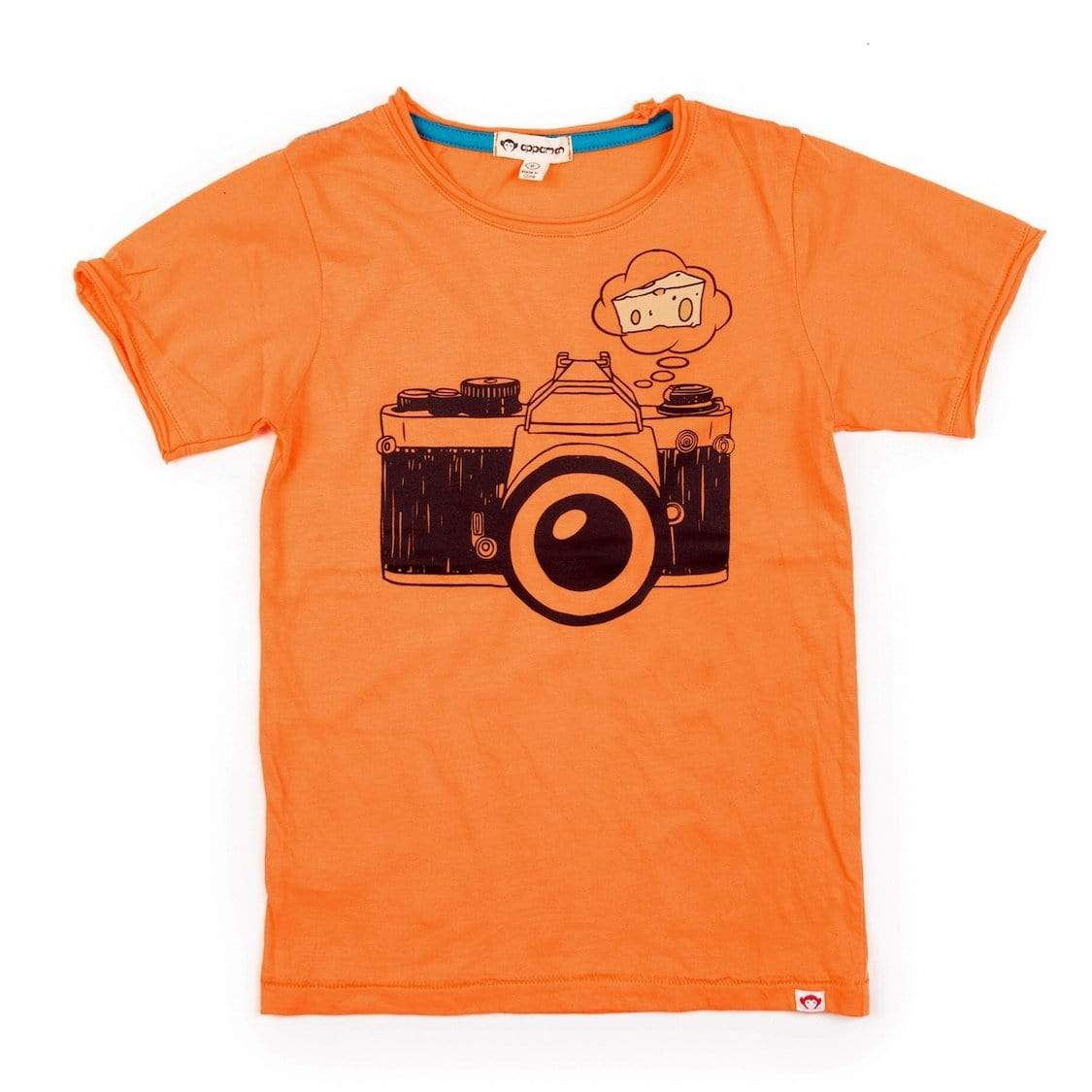 V1T8 Appaman Say Cheese Graphic Tee - Nectarine Short Sleeve Shirts Appaman