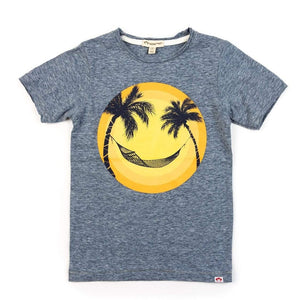 V1T9 Appaman Happy Hammock Graphic Tee - Heather Navy Short Sleeve Shirts Appaman