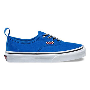 Vans - Authentic Elastic Check Lace Running Shoe - (Size Toddler 7 - Toddler 10) footwear Vans