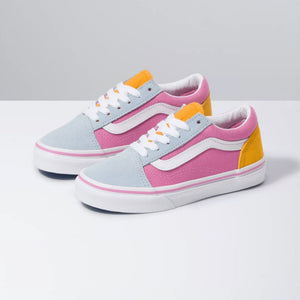 VANS - Colour Block Old Skool - Fusica Pink & True White (Kids 10.5 - Youth 5) footwear Vans Kids 10.5
