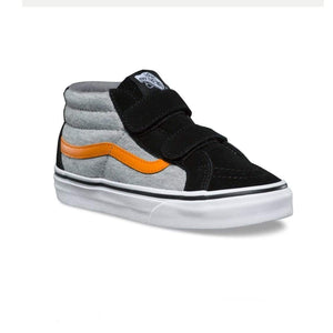 Vans - SK-8 Mid Reissue V Running Shoe - Black / Grey (Sizes Toddler 3 - Toddler 6) footwear Vans