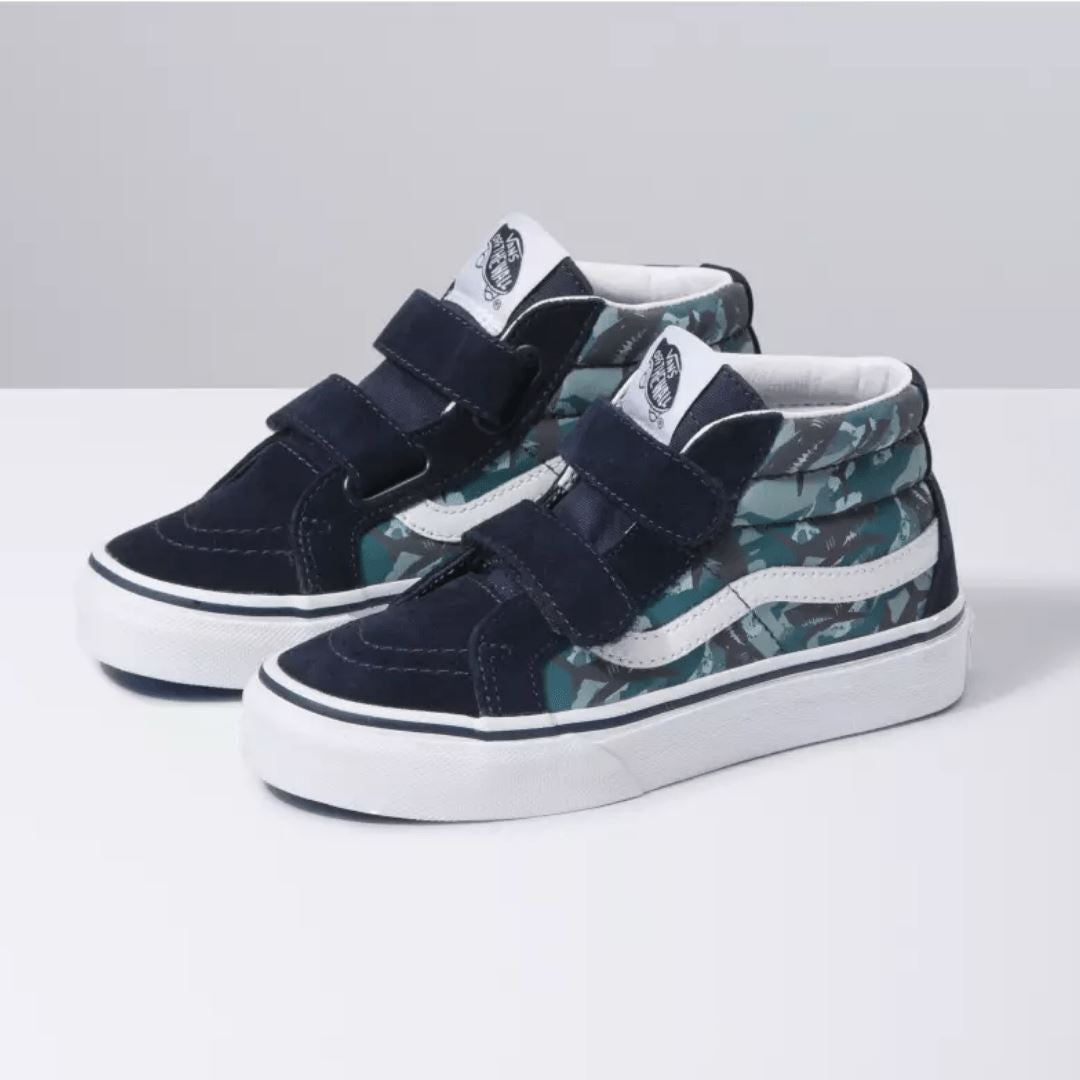 VANS - SK8-Mid Reissue V - Animal Camo - Parisian Night (Kids 10.5 - Youth 5) footwear Vans Kids 10.5