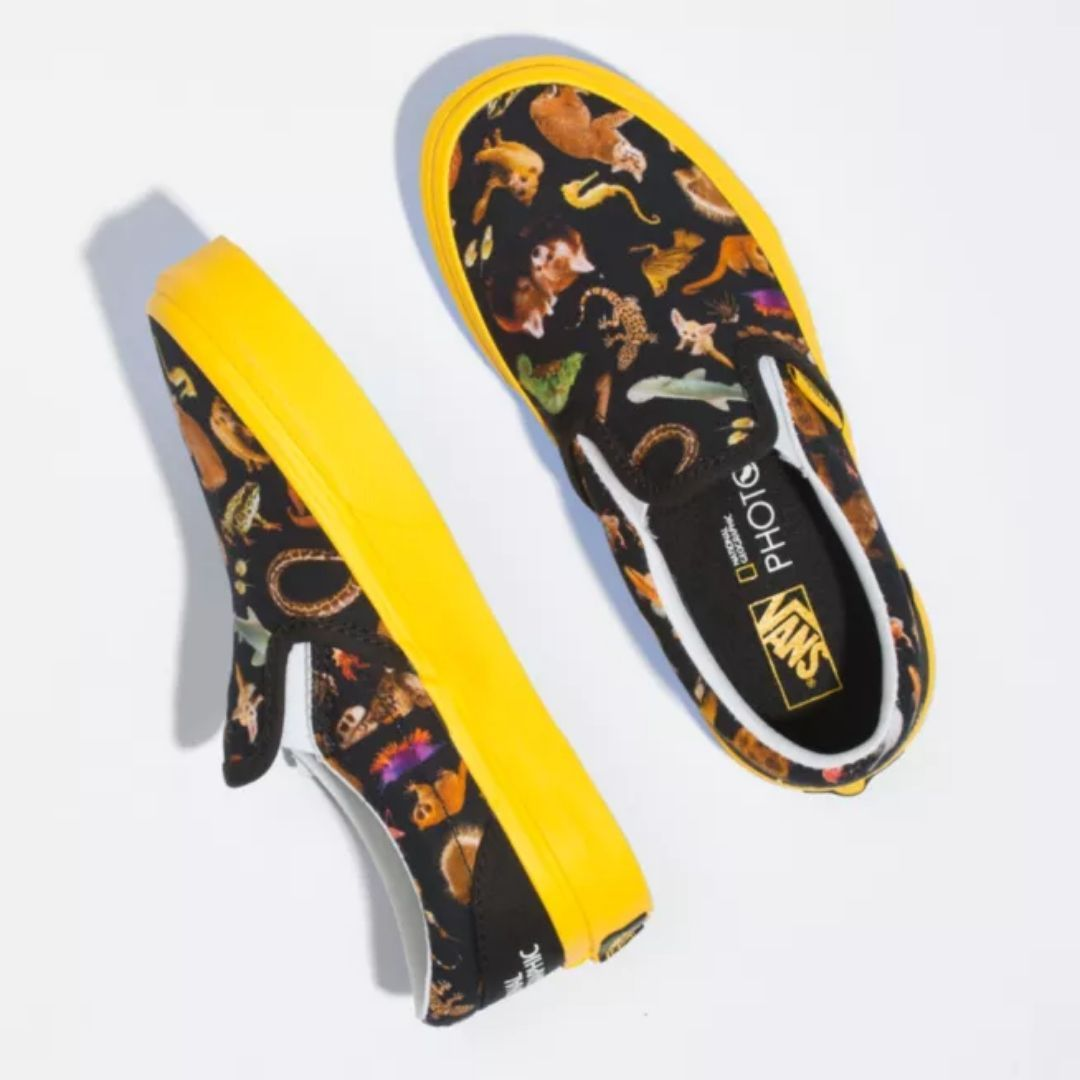 Vans X National Geographic Photo Ark Kids Slip-On Shoes Footwear Vans