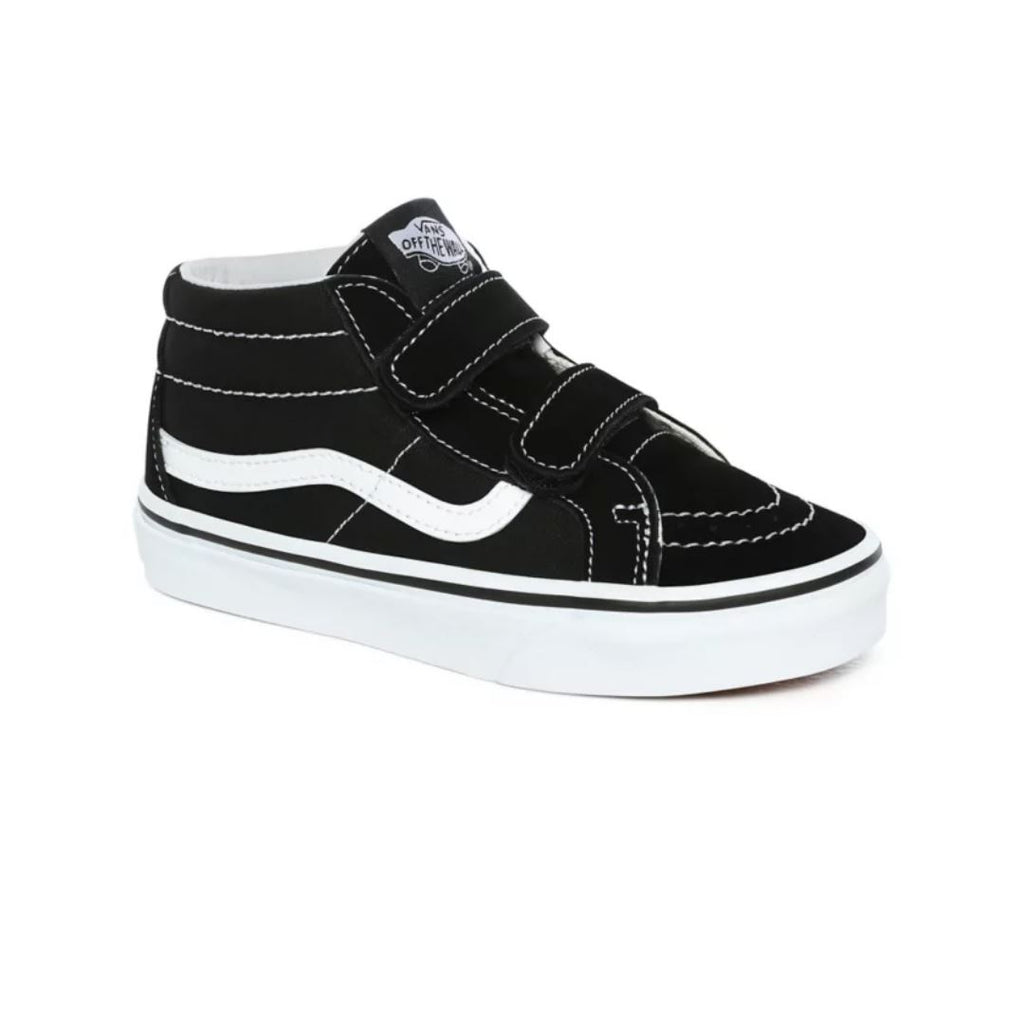 VN00018T6BT Vans - SK8-Mid Reissue V Black/True White Shoes (Sizes Kids 11 - Youth 3) footwear Vans